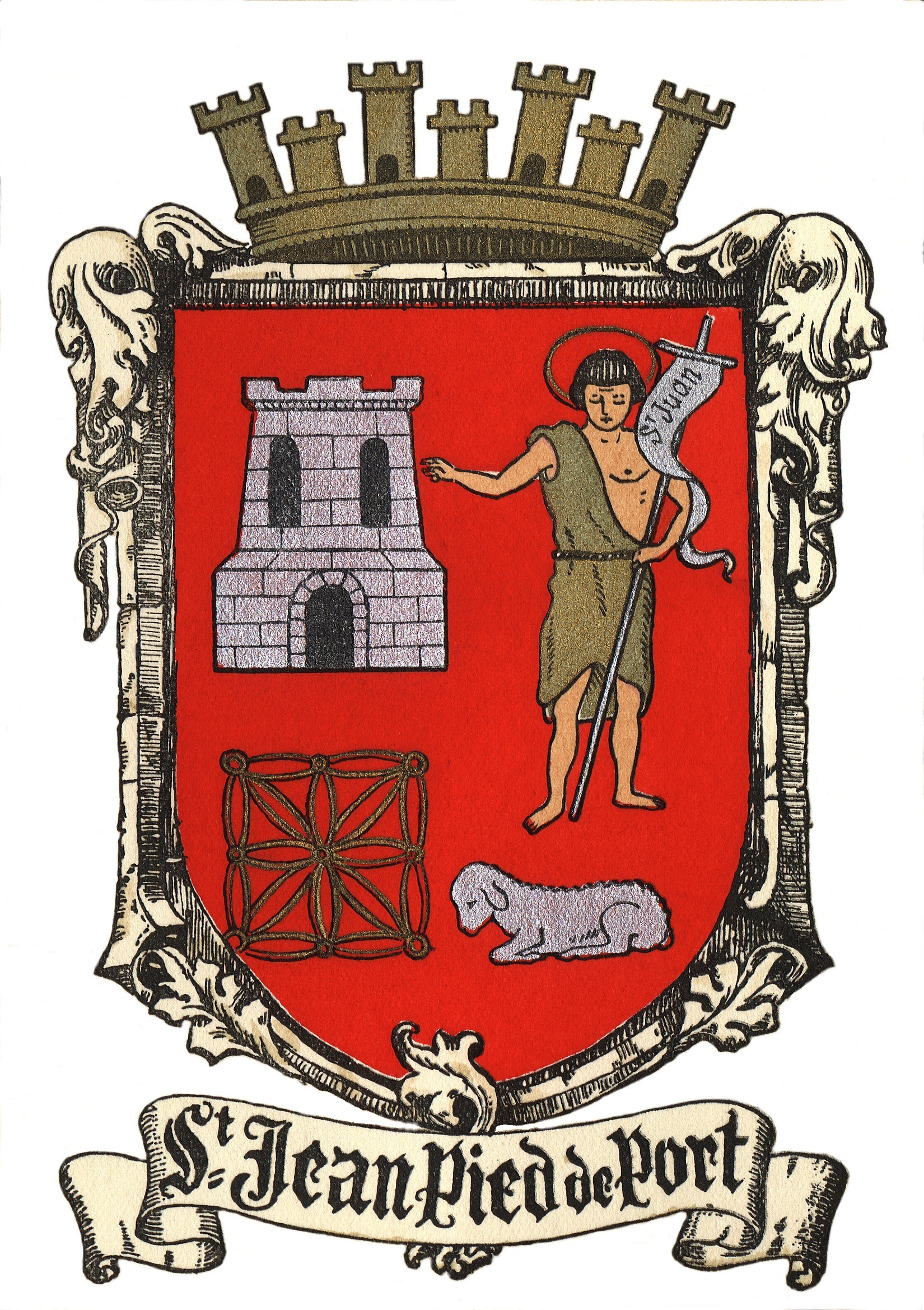 Armoiries et logo saint jean pied de port for Construction piscine saint jean pied de port