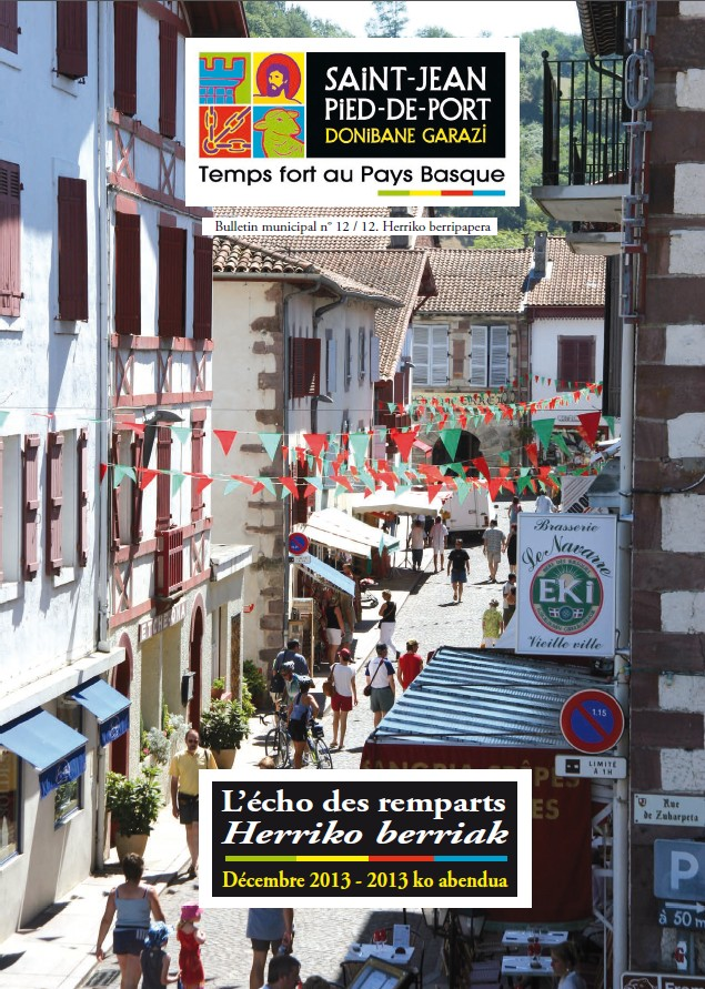 Bulletins municipaux saint jean pied de port - Office de tourisme de saint jean pied de port ...