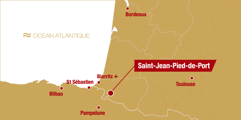 carte Saint-Jean-Pied-de-Port