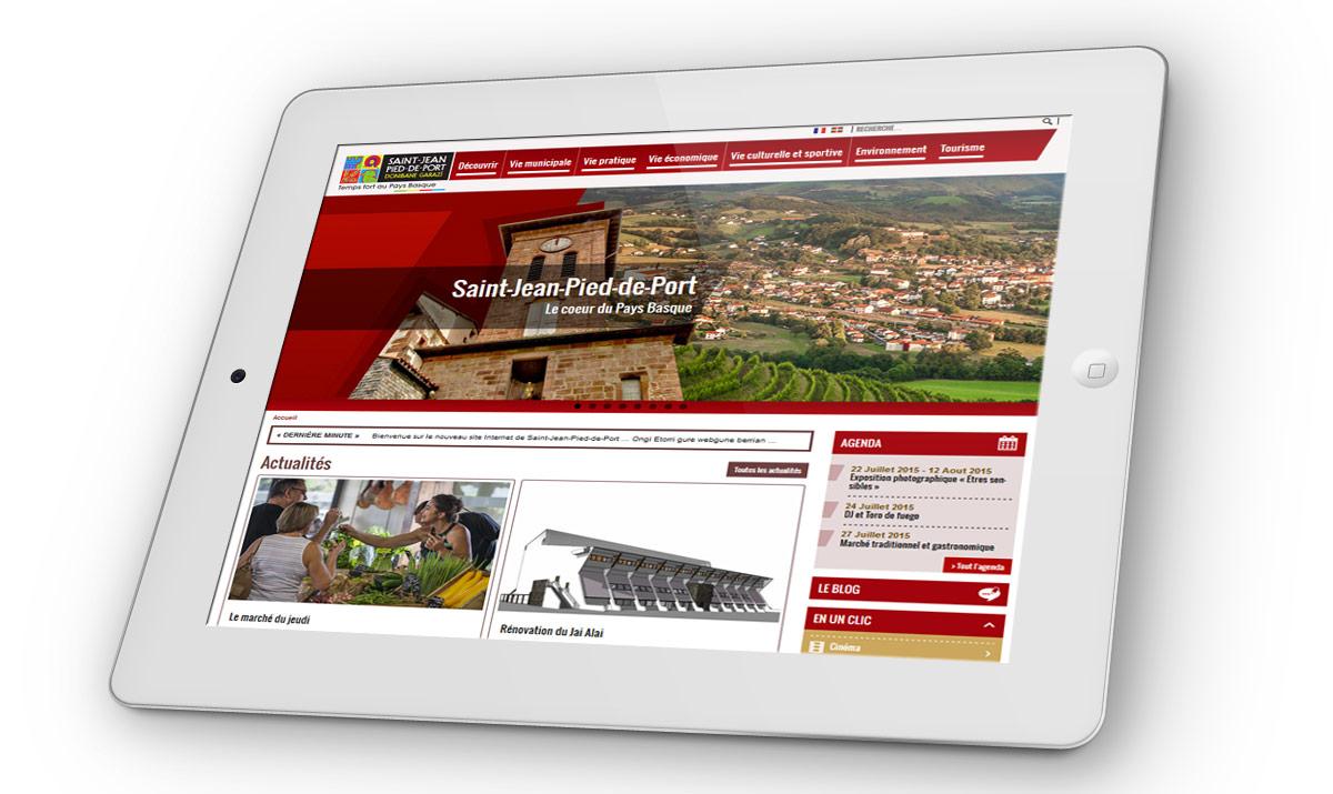Le nouveau site internet de saint jean pied de port - Accueil pelerin saint jean pied de port ...