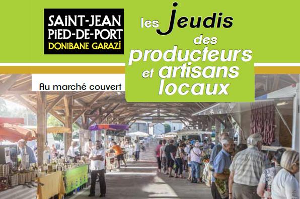Le jeudi des producteurs et artisans locaux saint jean - Office du tourisme st jean pied de port ...